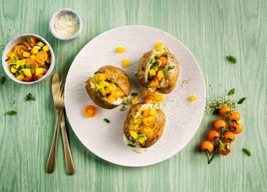 Knorr - Ofenkartoffeln mit veganem Dip