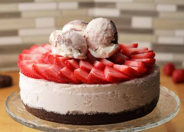 Cookie Crust Ice Cream Cheesecake Recipe