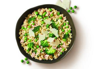 Cheesy Broccoli, Pea & Ham Rice