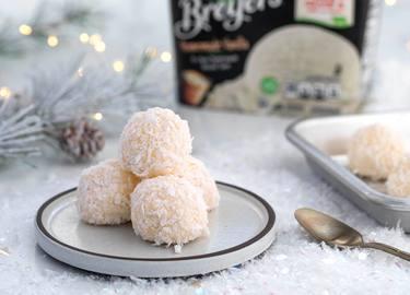 Coconut Ice Cream Snowballs Recipe
