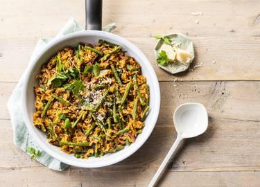 Knorr - Einfache Fisolen-Reis-Pfanne