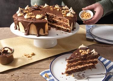 Erdnussbutter-Schoko-Torte