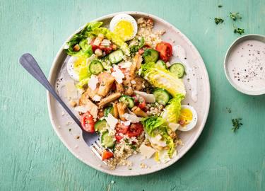 Knorr - Caesar Salat mit vegetarischem Geschnetzelten