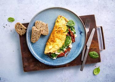 Knorr - Feta-Omelett mit Spinat