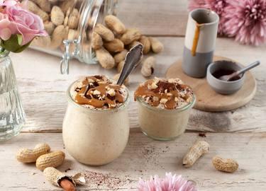 5 Minuten vegane Erdnussbutter-Mousse