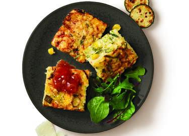 Cheesy Zucchini Rice Slice