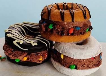 Donut Ice Cream Sandwiches Recipe