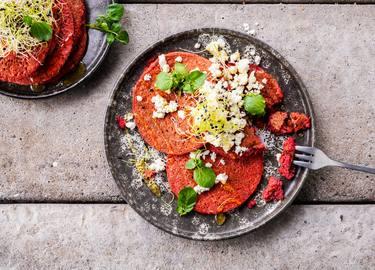 Knorr - Randen Pfannkuchen mit Feta