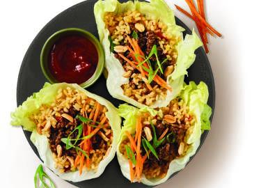 Oriental Beef & Rice Lettuce Cups