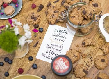Erdnussbutter-Hafercrunchies
