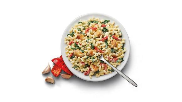 Fusilli with Chicken & Spinach