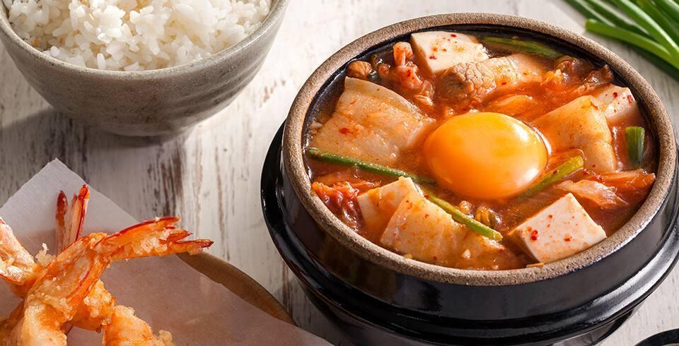 ซุปกิมจิกุ้งเทมปุระ