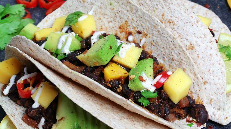 Avocado & Mango tacos