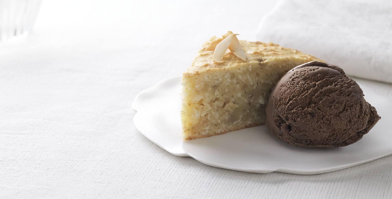Gâteau noix de coco et banane
