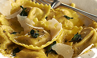 Spinach & Ricotta Filled Pasta with Sage Butter