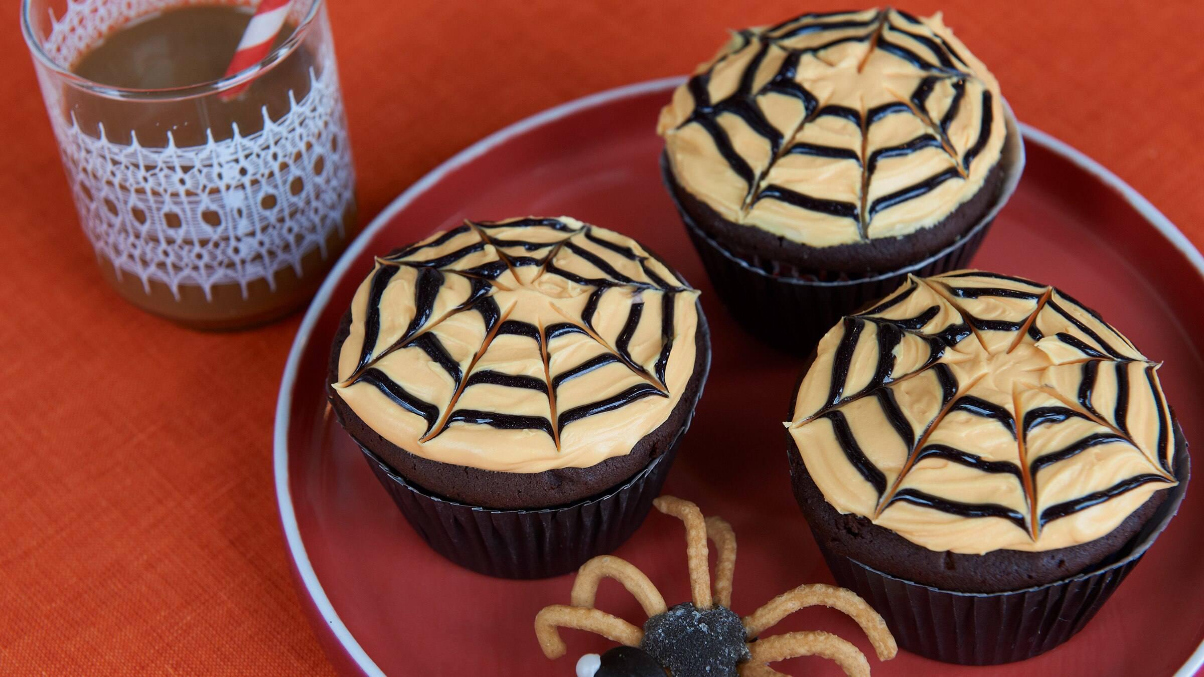 Baby Spider Halloween Cupcakes Recipe