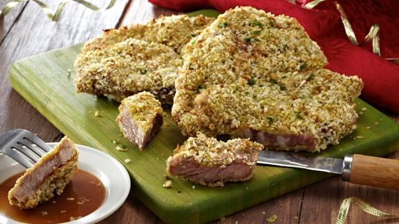 Pesto Crusted Lamb Chops Recipe