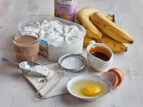 Hoe 'Chocoladepannenkoeken met straciatella ijs' bereiden.