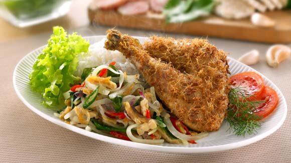 Ayam Goreng Oseng Pepaya Muda