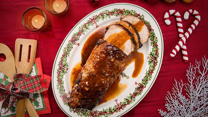 Lomo de cerdo navideño Fruco