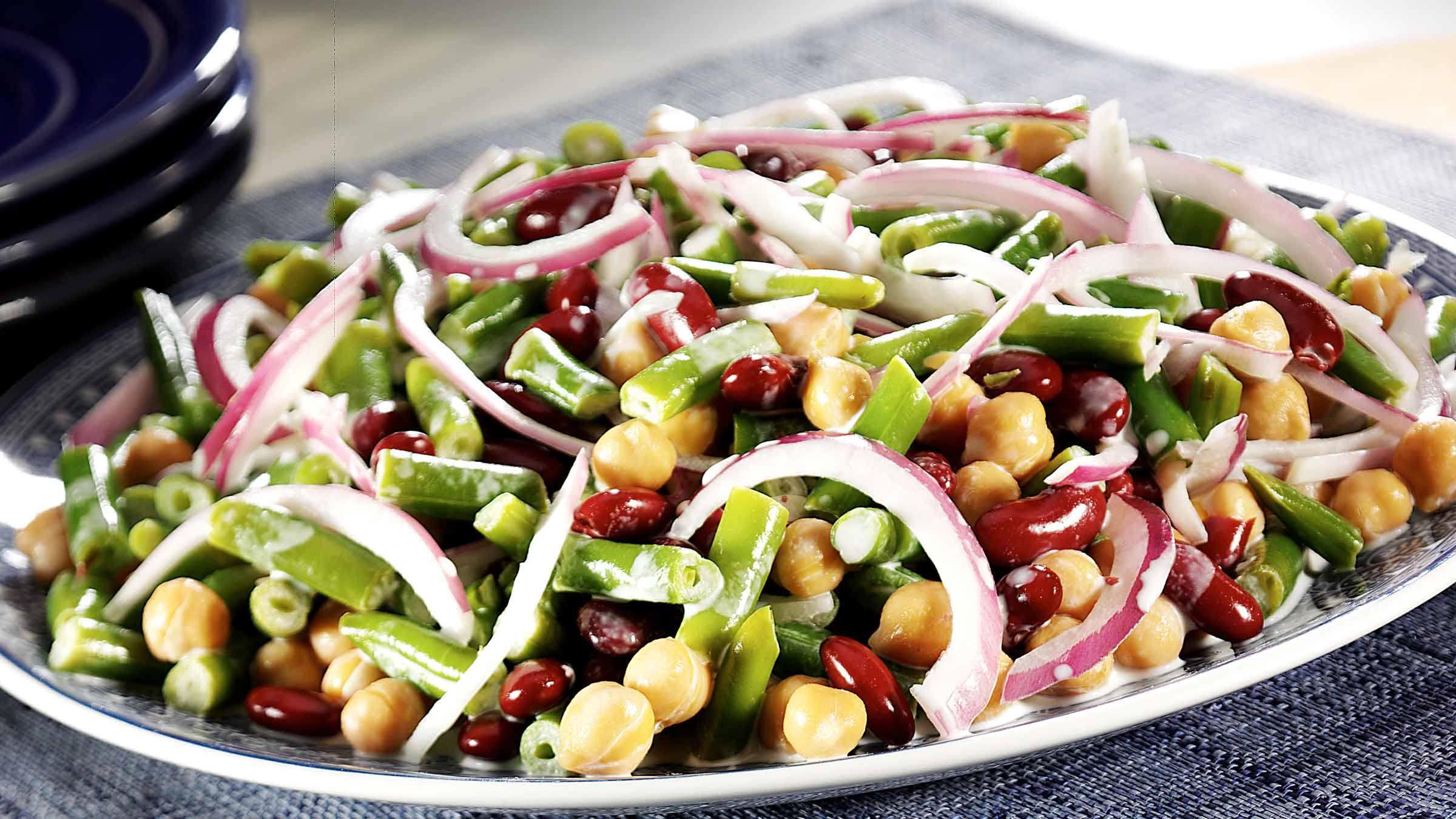 Creamy Three Bean Salad Recipe