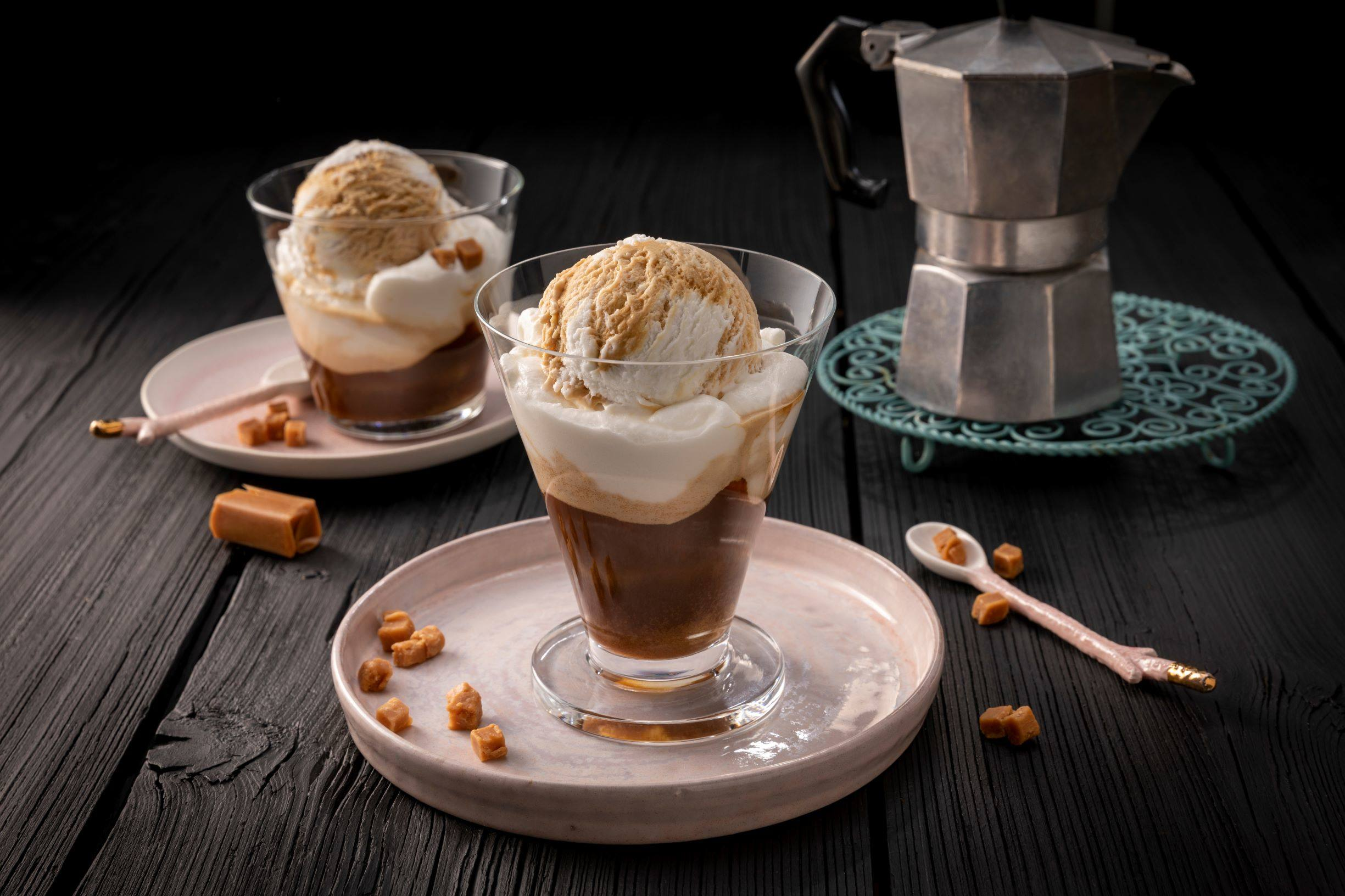 Eiskaffee mit Salted Caramel Eis