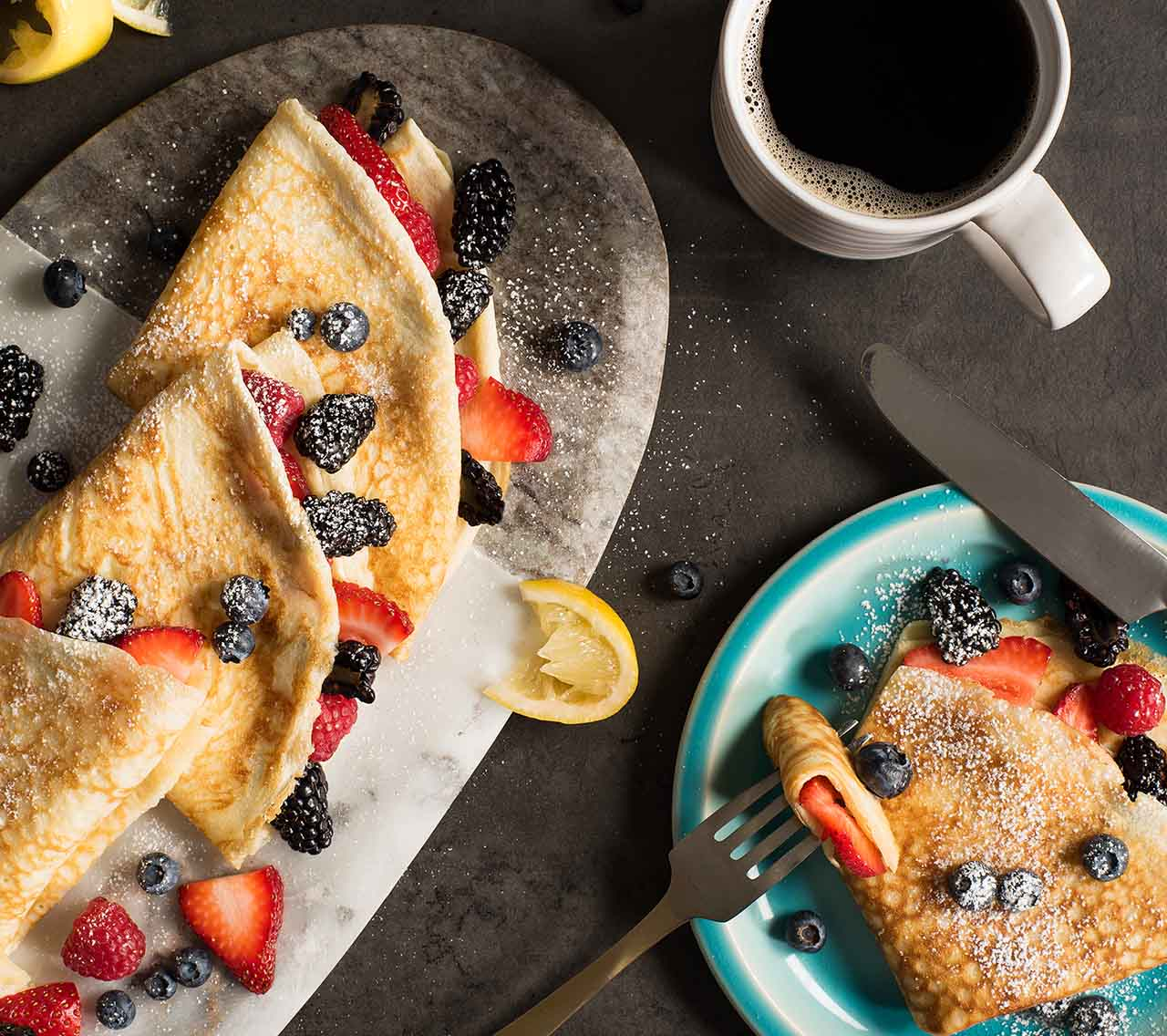 Fresh Fruit Crepes