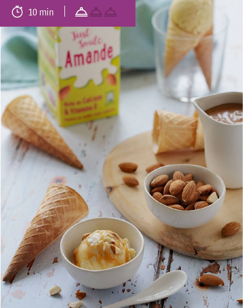 Glace Amande Vanille