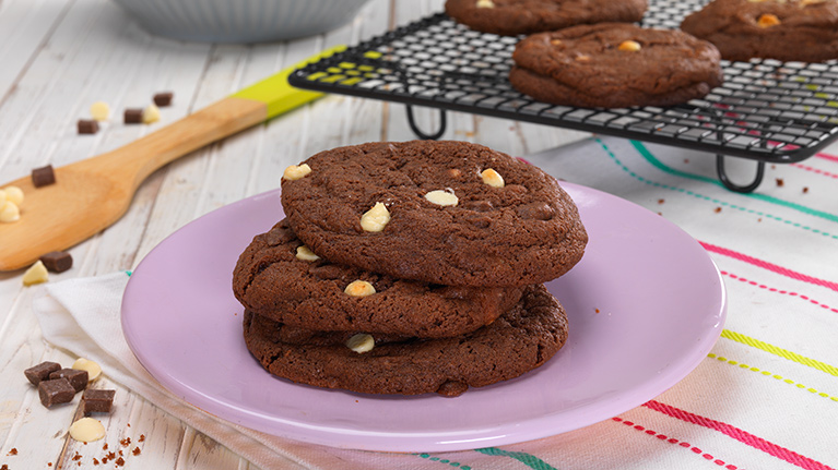 Gluten and Dairy Free Triple Chocolate Cookies