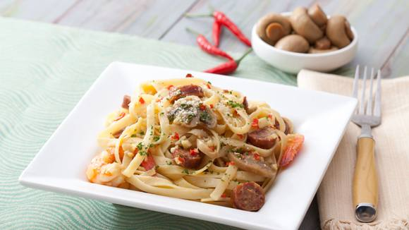Spicy Shrimp and Chorizo Pasta Recipe