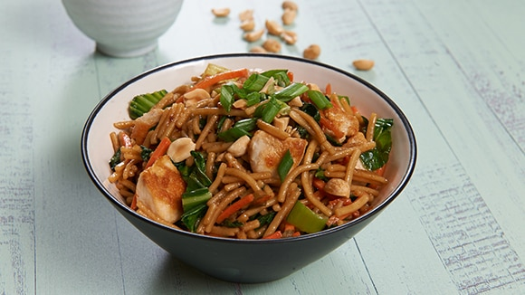 Chicken & Bok Choy Teriyaki Noodles