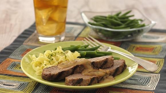 Grilled Meatloaf Stroganoff