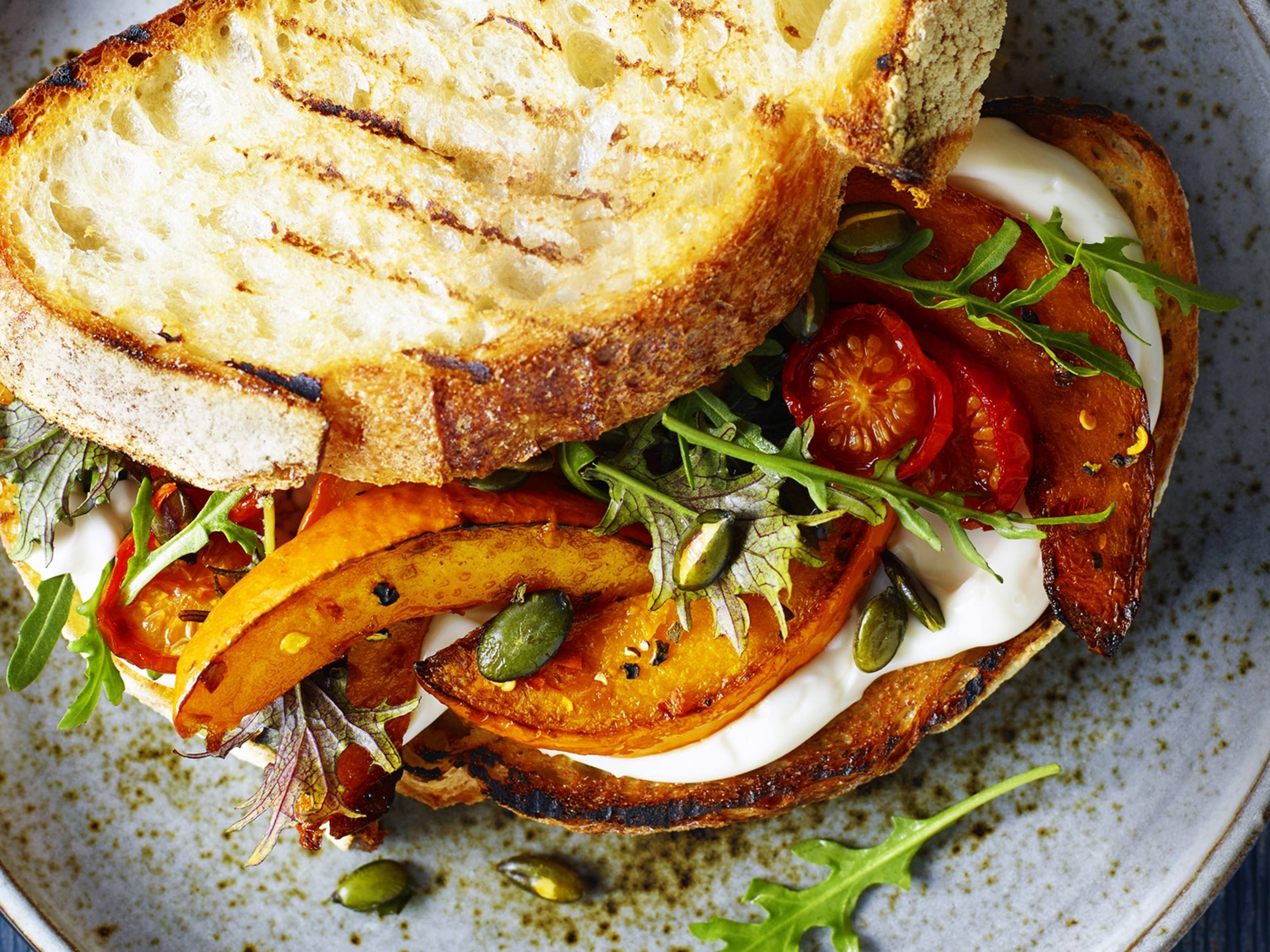 Rustic Roasted Pumpkin Sandwich