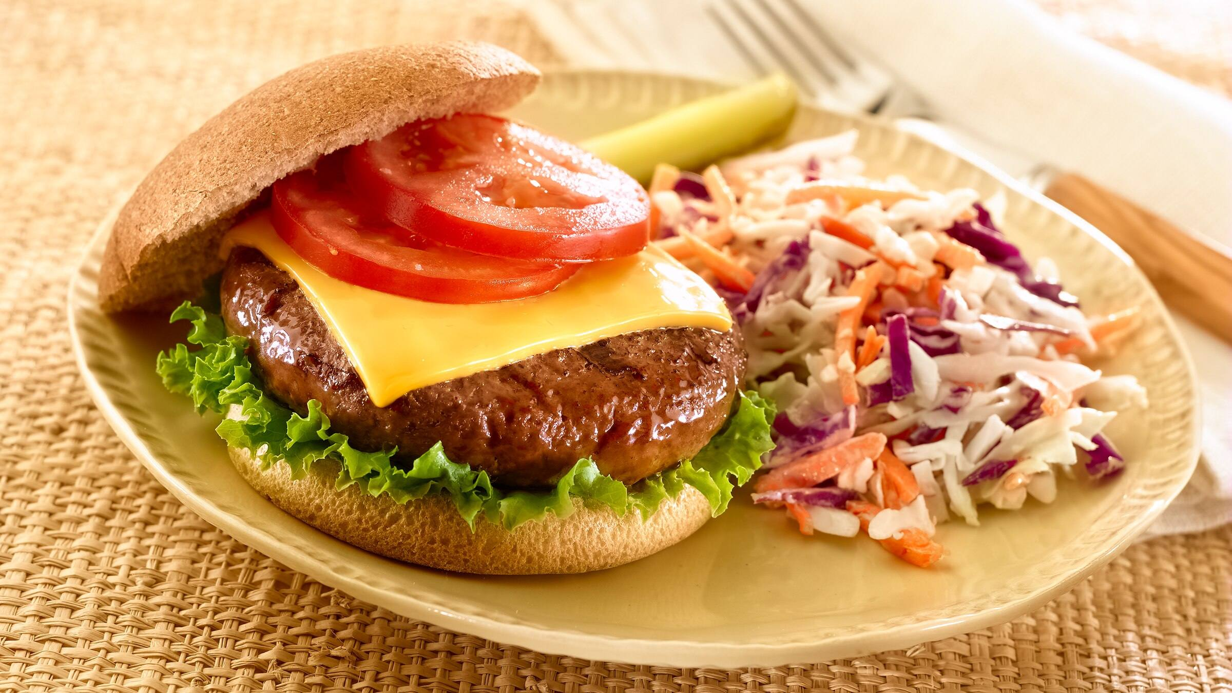 Cheeseburgers and Coleslaw Recipe