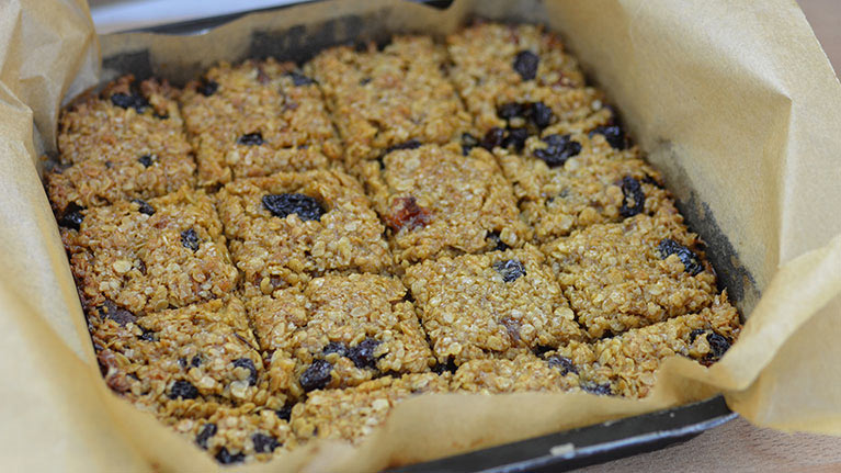 Apricot and Raisin Flapjack