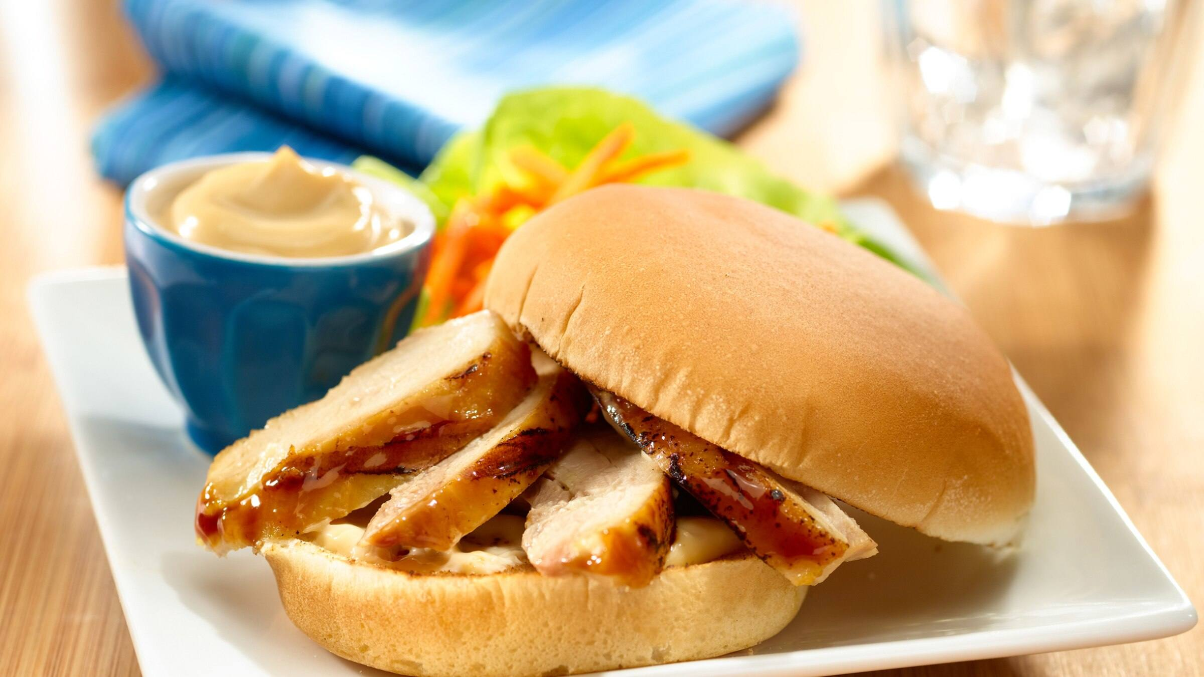 Asian Marinated Chicken Sandwich Recipe