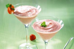 Milkshake fraise coco