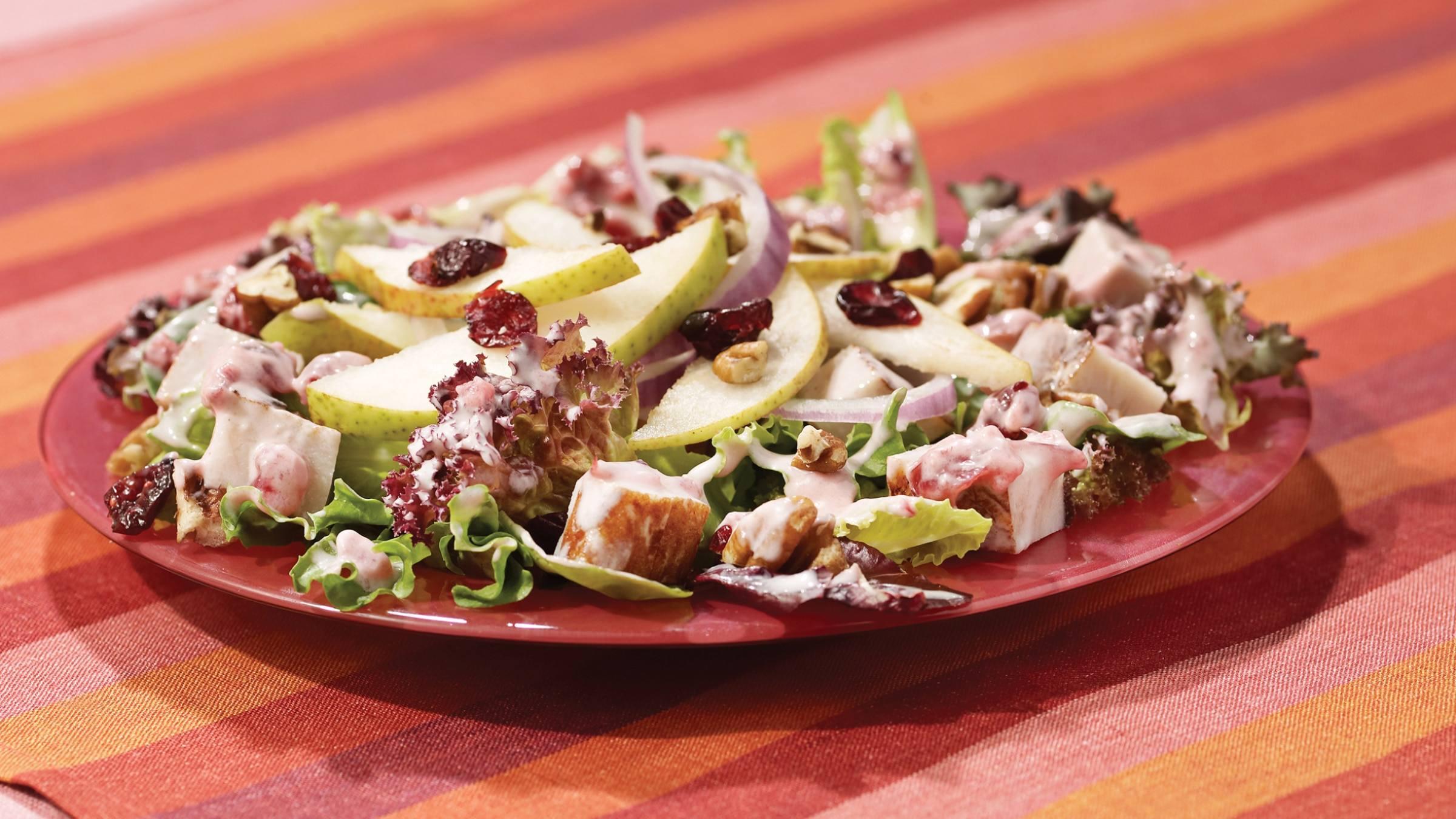 Blushing Cranberry, Pear & Turkey Salad Recipe