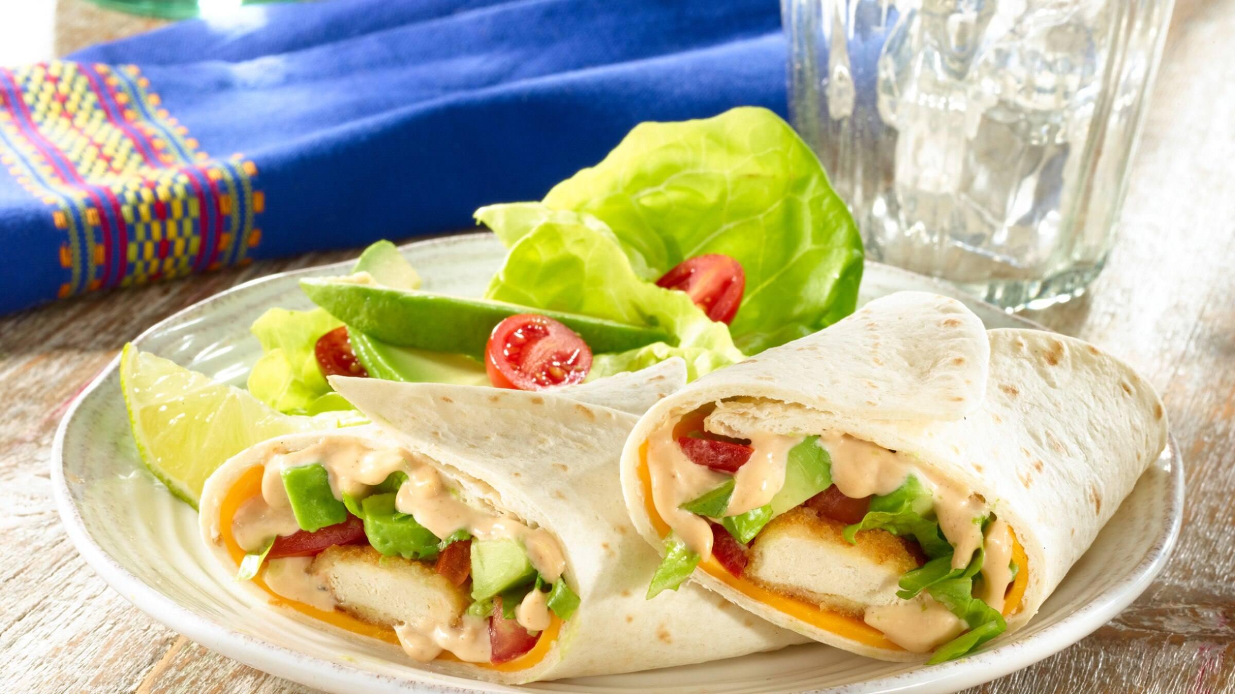 BBQ Chicken & Cheddar Wraps Recipe
