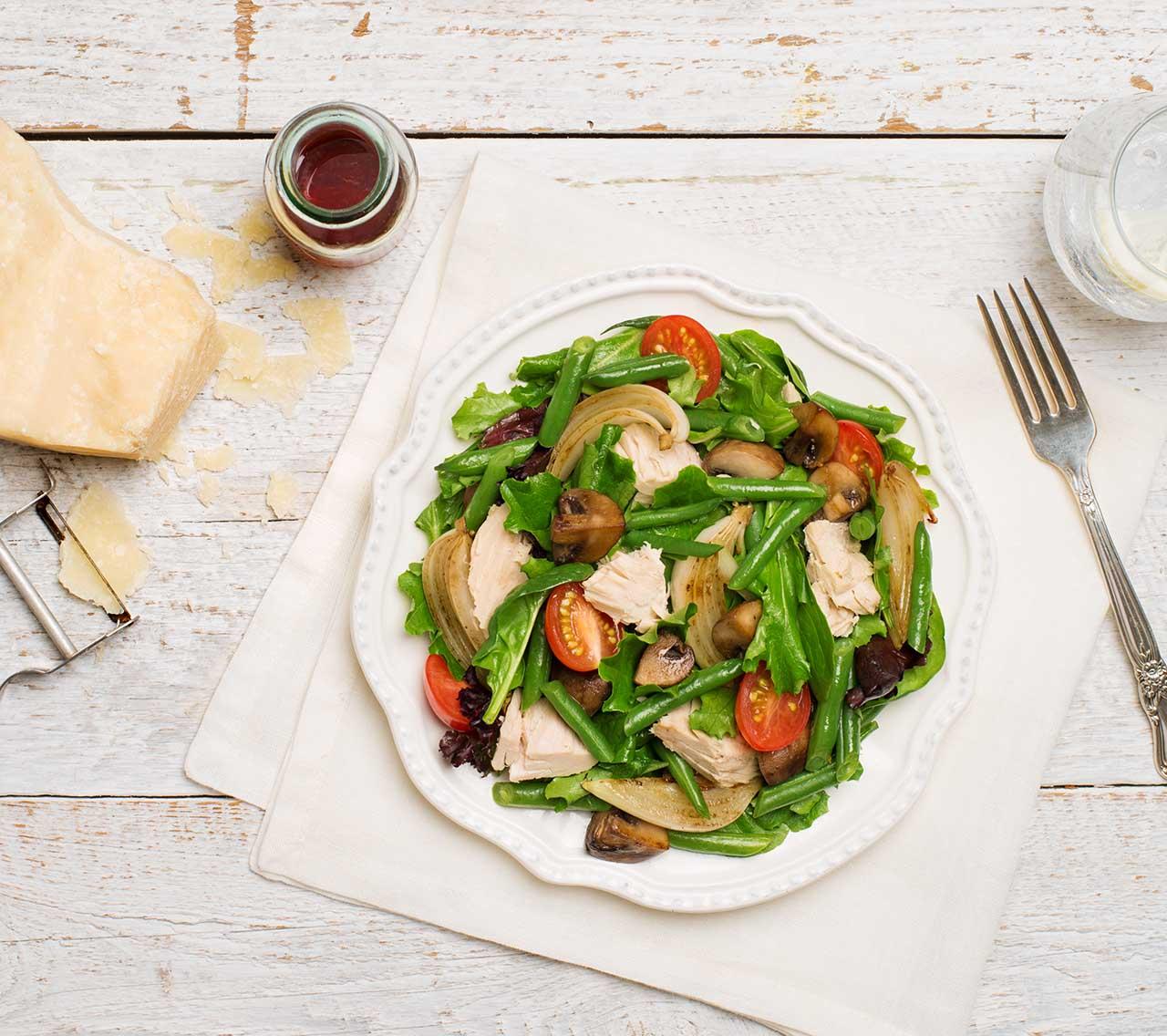 Salade de légumes tiède au thon