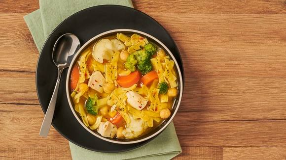 Hearty Chicken & Vegetable Noodle Soup