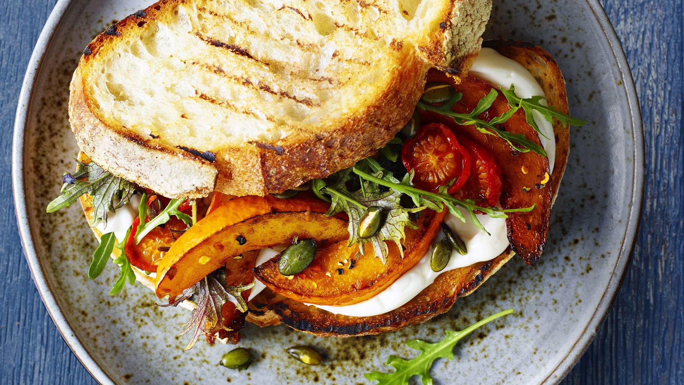 Rustic Roasted Pumpkin Sandwich