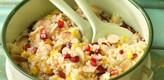 Salada de Quinoa com pão de alho