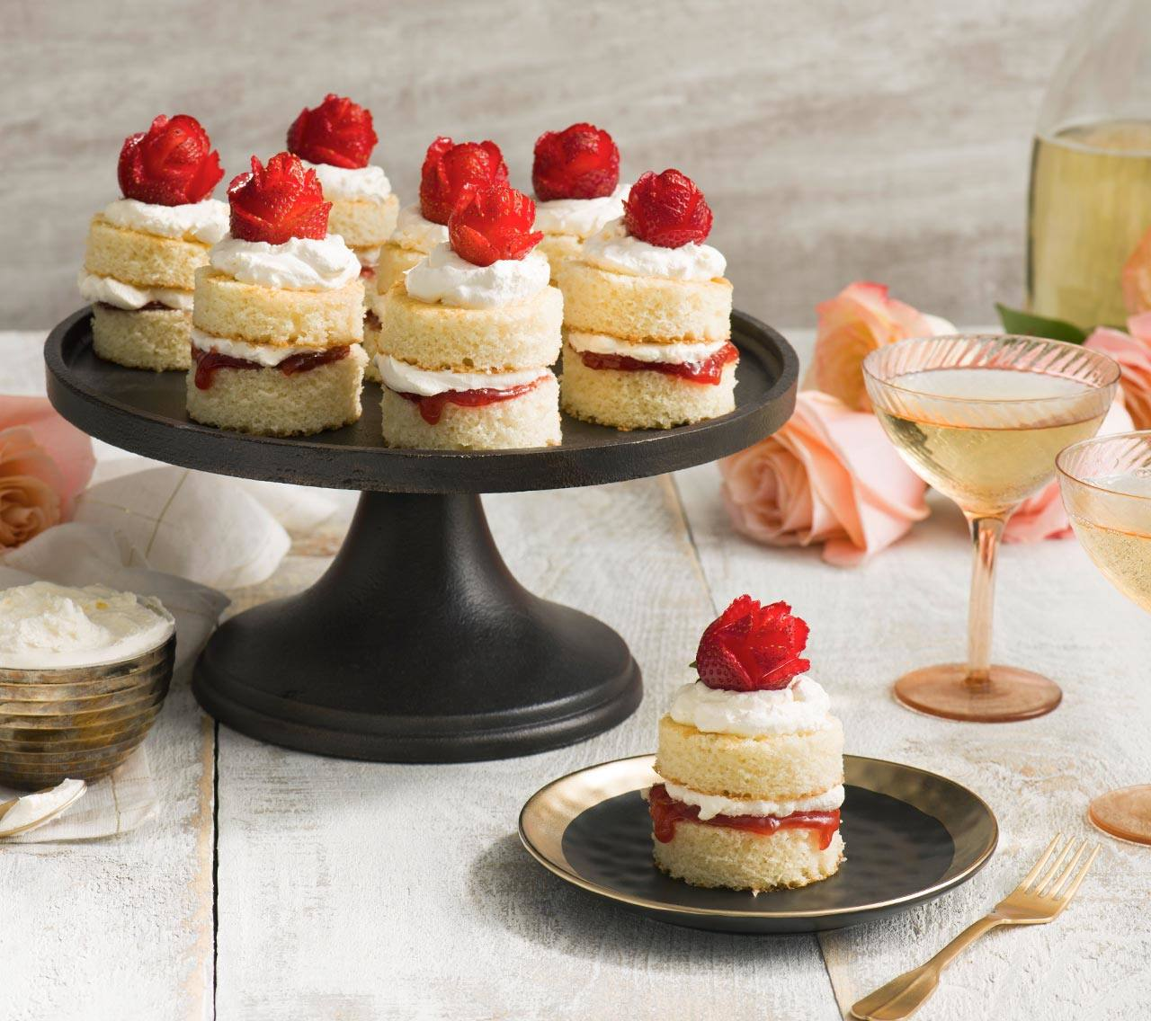 Mini Rose Strawberry Shortcakes