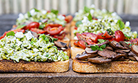 Mob Kitchen's Bruschetta 3 ways