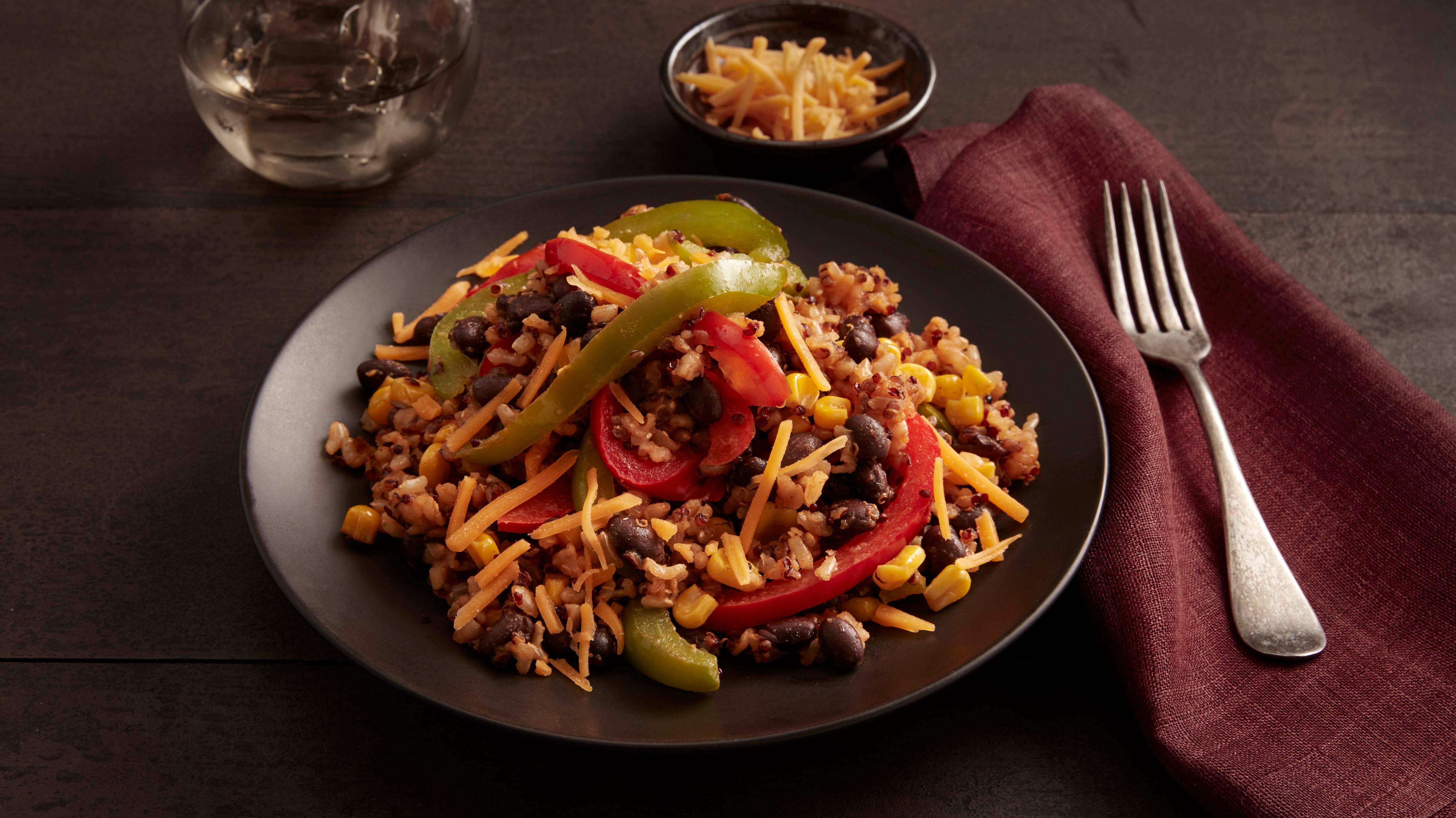Southwestern Black Beans, Brown Rice & Quinoa