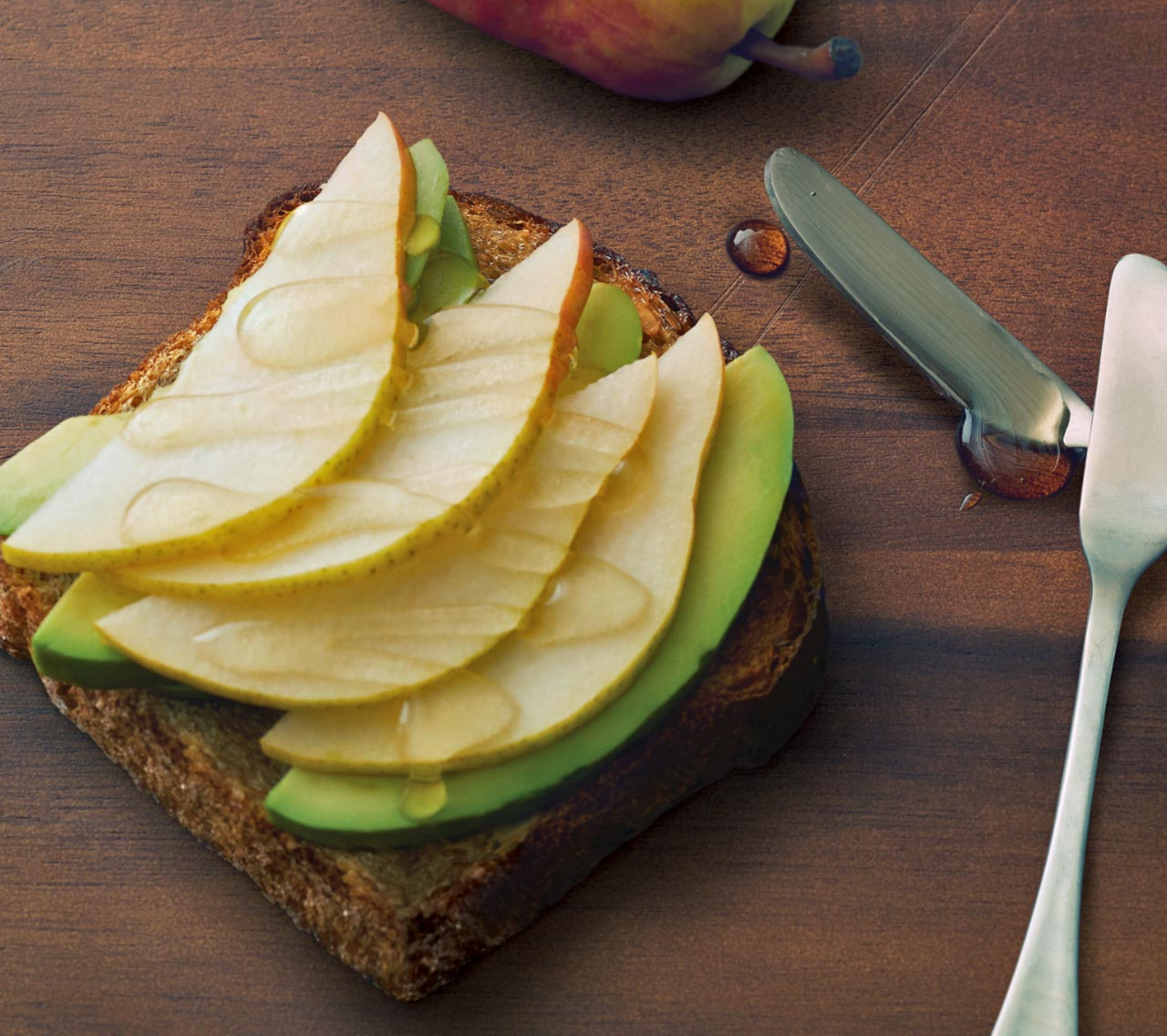 Avocado Toast with Pear and Honey