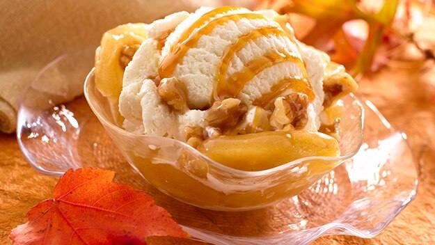 Caramel Apple Walnut Sundaes