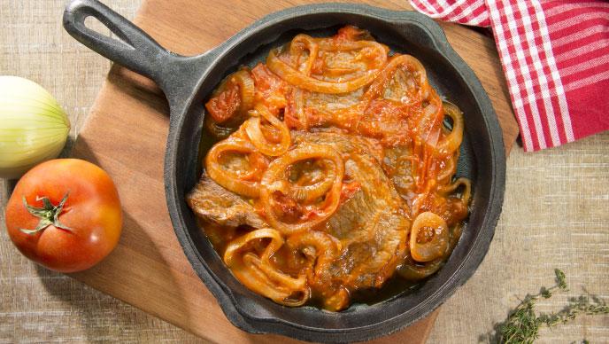 Bistec Criollo con Salsa de Tomate Fruco®