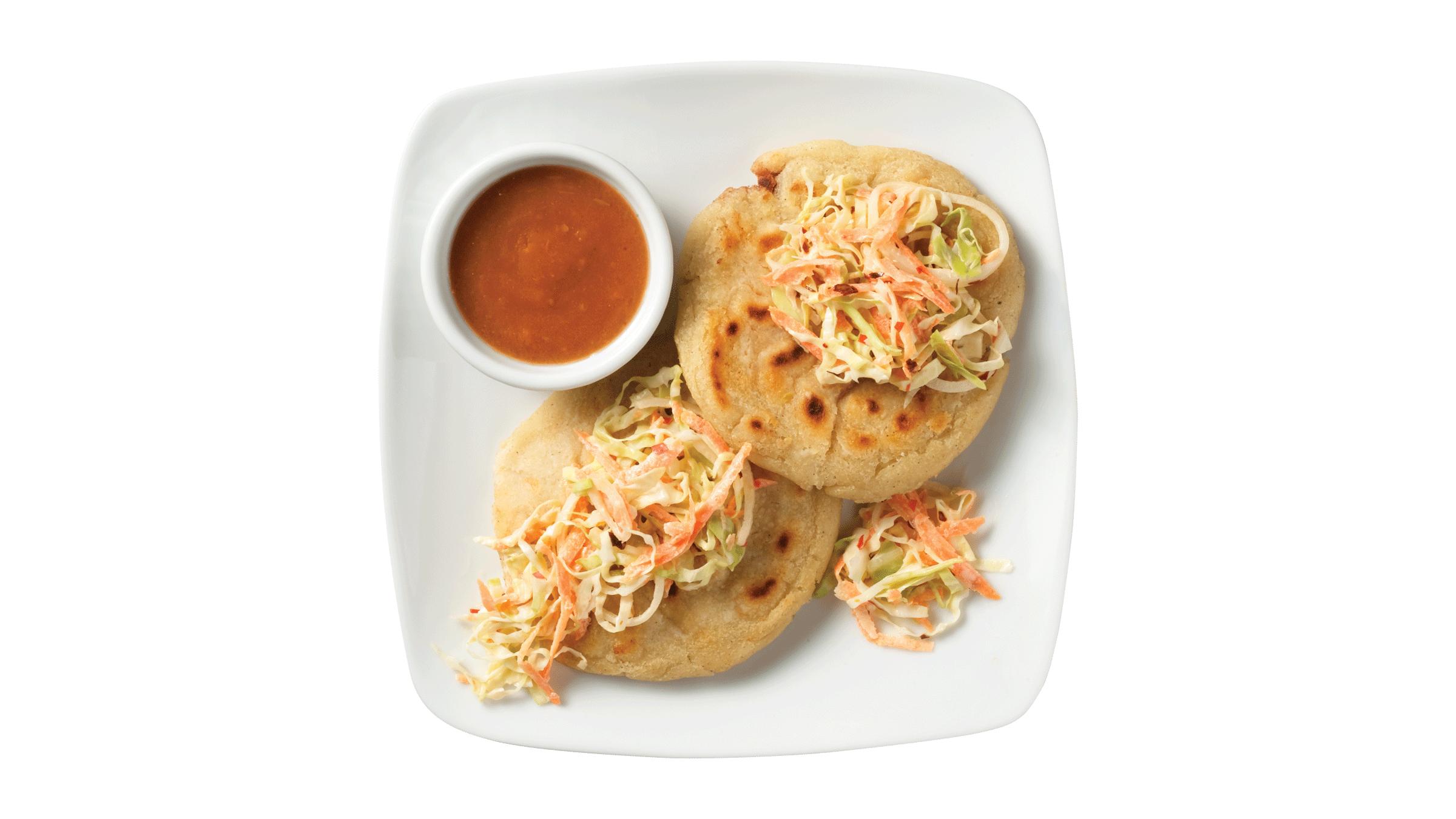 Salvadorean Pupusas (Stuffed Masa Cakes)